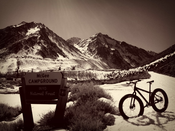 About 1.5 miles into the ride - McGee Campground. Amazing views abound.