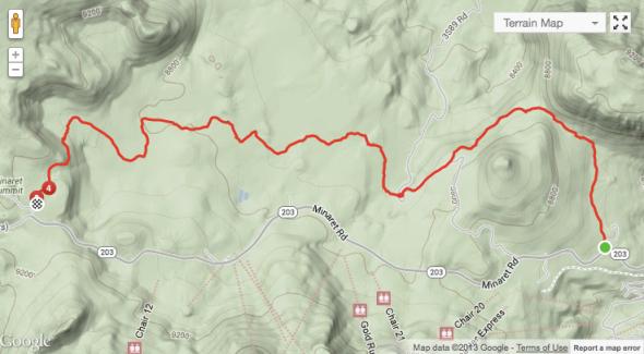 Mountain View Trail Map
