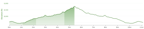 Glass Mountain Ridge - Elevation Profile.