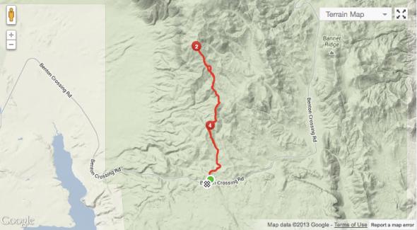 Glass Mountain Ridge - Map.