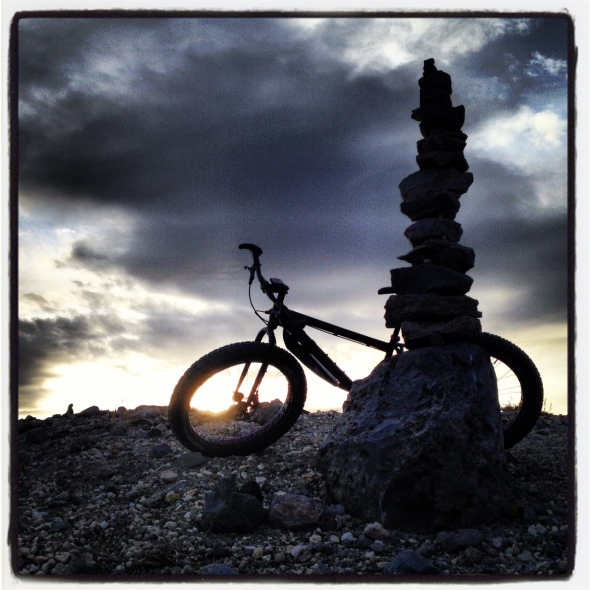 """A cairn on display at the """"Lookout"""" of Glass Mountain Ridge."""