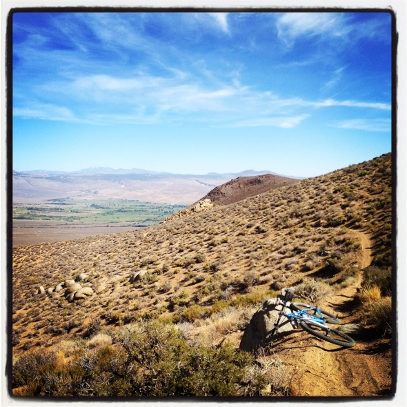 Great views from a sweet section of singletrack in the Tungsten Hills