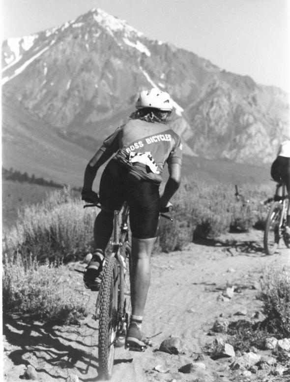 Photo Courtesy: Charles Kelly - A great shot of Cindy Whitehead racing without a saddle.