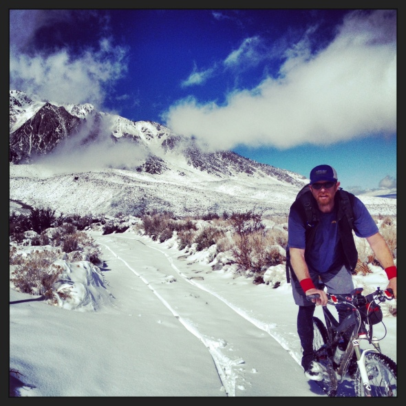Jeremy, doing some snow recon in the Buttermilks for the