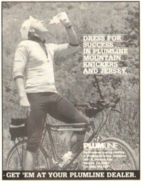 An old Plumline ad from Mountain Bike Magazine