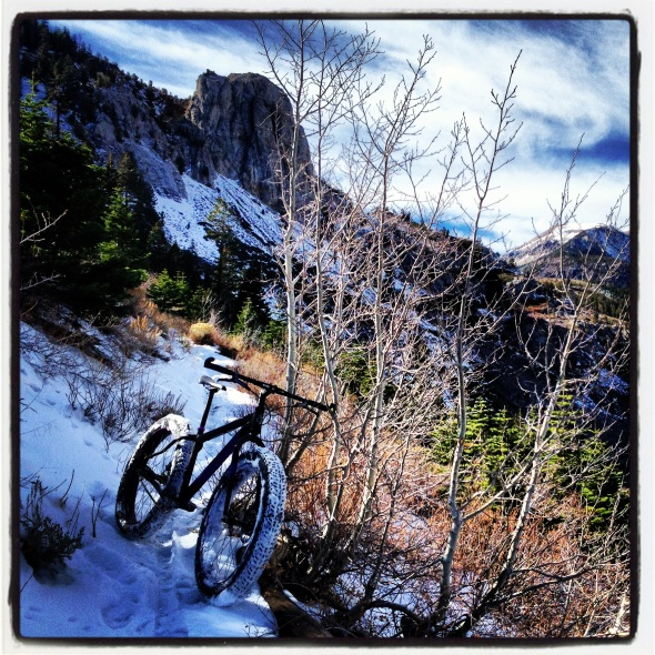 Mammoth Rock Trail on a fat bike in early winter