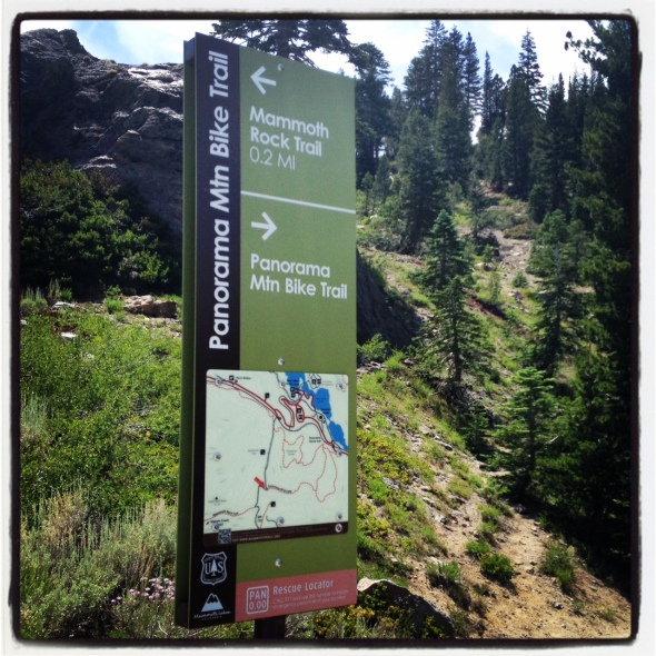 Very informative trail sign and map at the Old Mammoth Rd trailhead