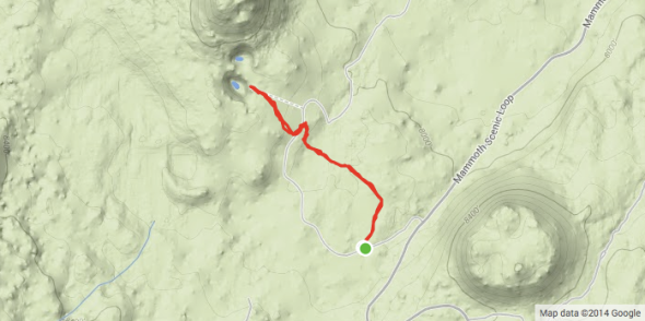 Inyo Craters Singletrack Map