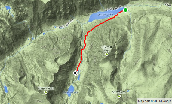 Lake Canyon Trail - Map