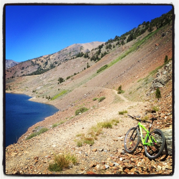 A sweet section of singletrack going along the east side of the lake