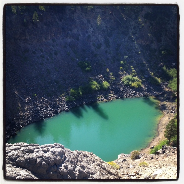 A look down into the crater.  Gorgeous color!