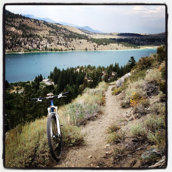 Stop for a breather.  Sweet view of June Lake