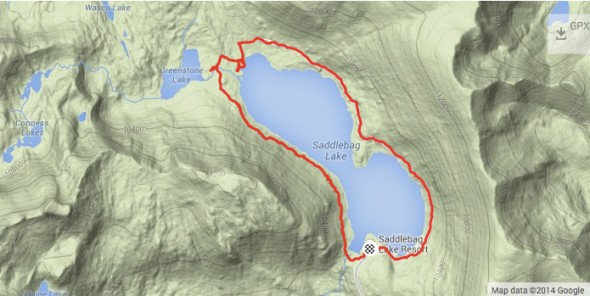 Saddlebag Lake Trail - Map