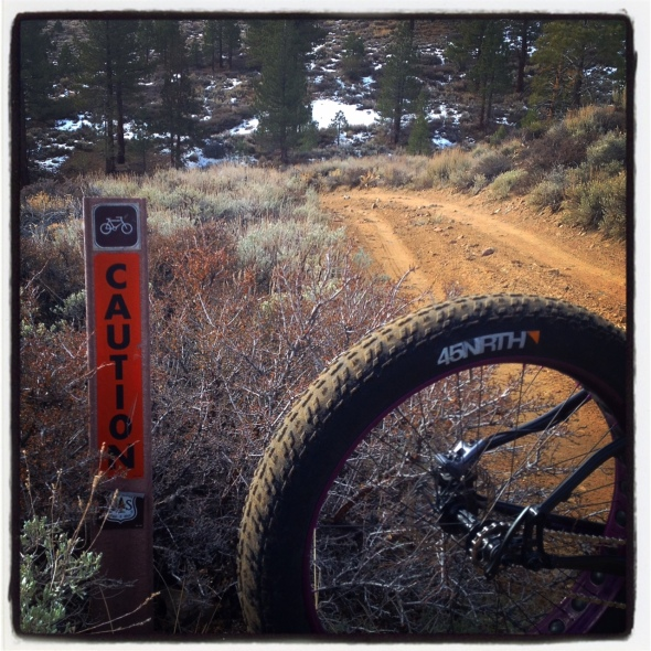 These signs are rare on these old rides - reminding you to take it easy just before a steep descent on a remote part of the ride.