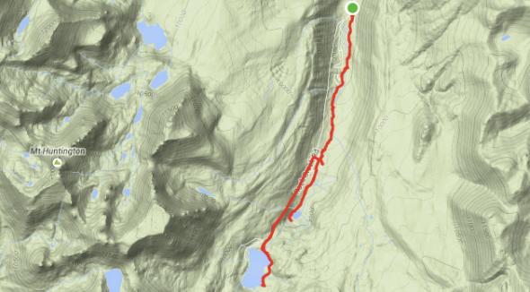 Rock Creek Canyon Map.