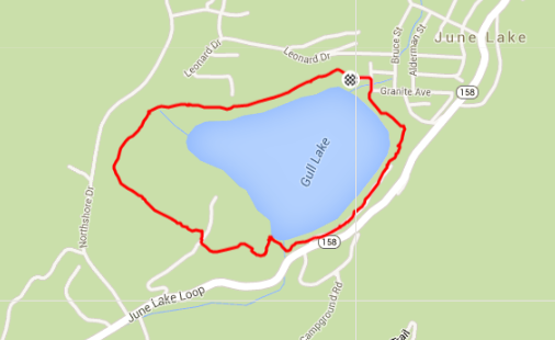 Gull Lake Loop - Map