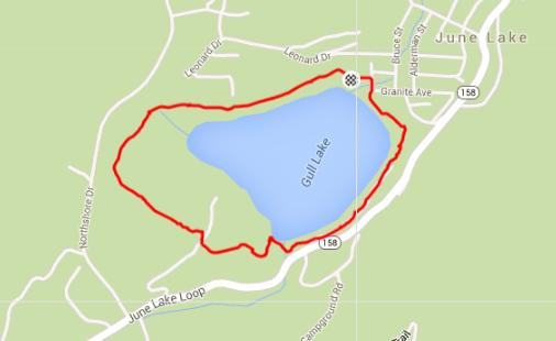Gull Lake Loop - Map