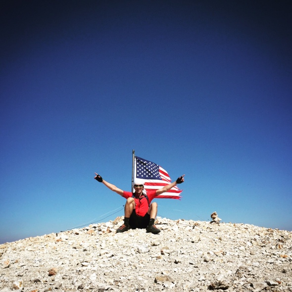 Arthur Kopatsy on the top of the world. Mt. Patterson summit - High Point of the whole route.