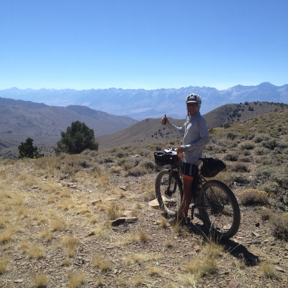 Zak on the Inyo Traverse